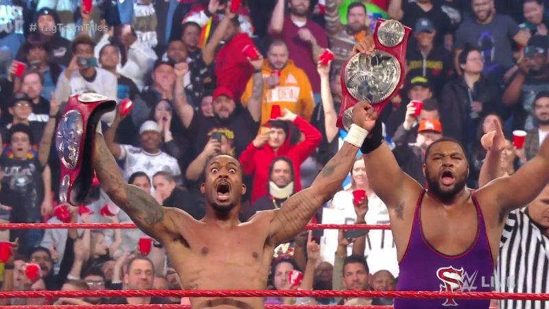 Brand new RAW Tag Team Champions, The Street Profits