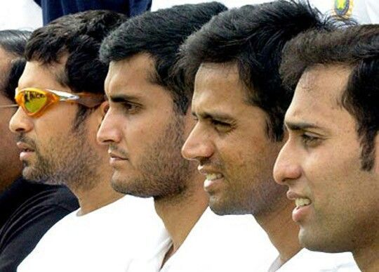 Sachin Tendulkar, Rahul Dravid, VVS Laxman, and Sourav Ganguly - India
