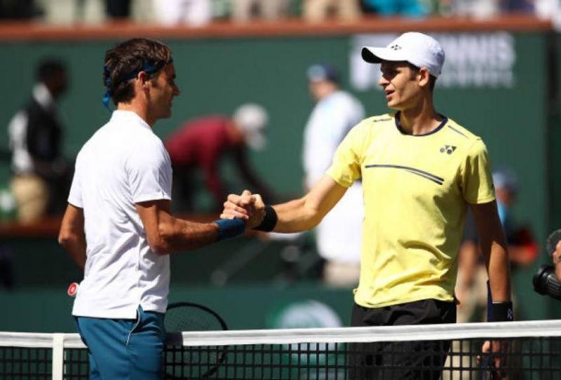 Federer beat Hurkacz in the 2019 Indian Wells quarter-finals