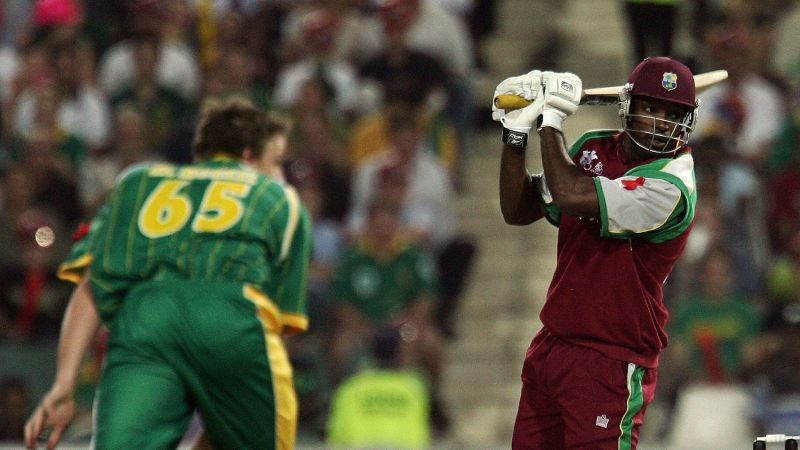 Chris Gayle teeing off against South Africa in a T20I