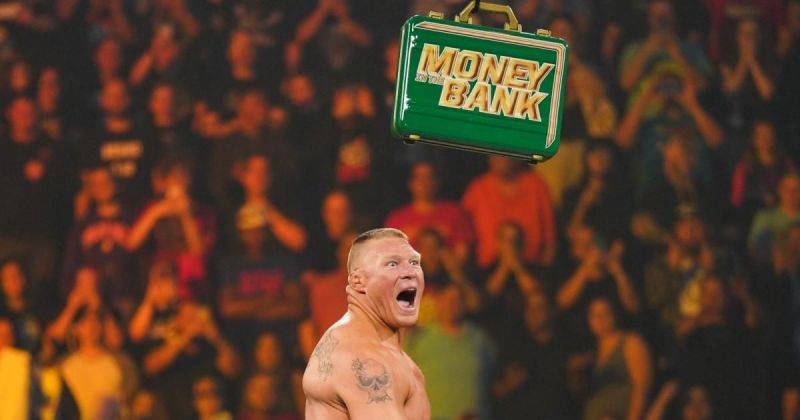 Brock Lesnar at Money in the Bank 2019.