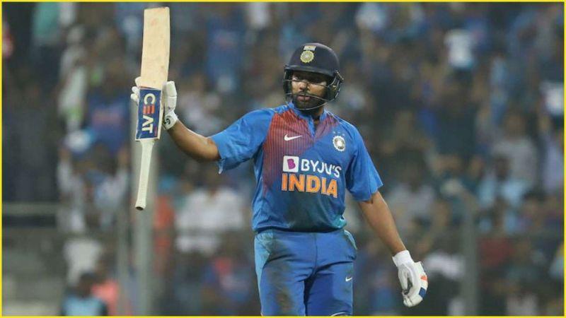 Rohit Sharma celebrates another batting landmark