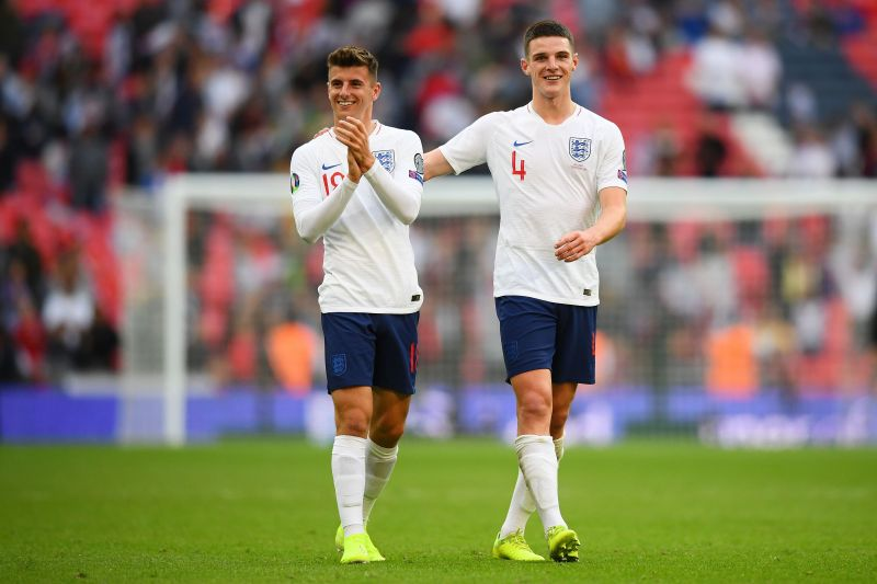 Mason Mount and Declan Rice played together in the youth ranks for Chelsea