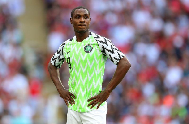 Ighalo in action for Nigeria