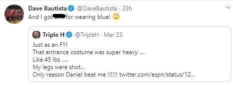 Batista responds to Triple H