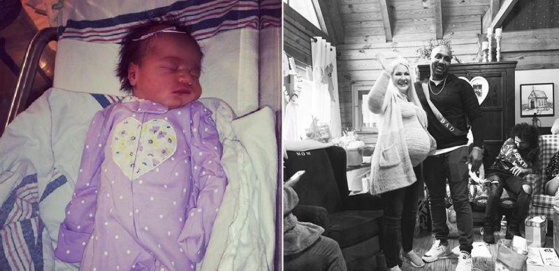 Violet was born earlier today