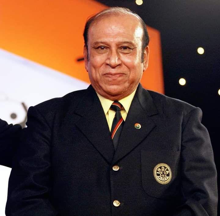 PK Banerjee in the FIFA Centennial Honour of Merit, 2004 Ceremony.