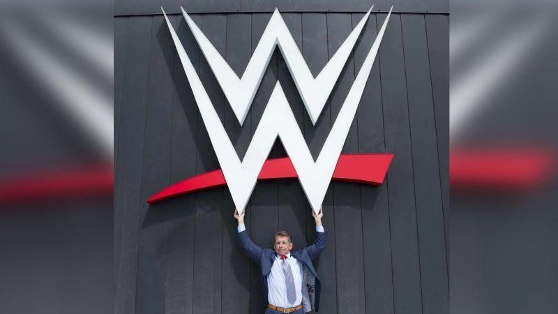 Chairman Vince McMahon and the WWE Logo