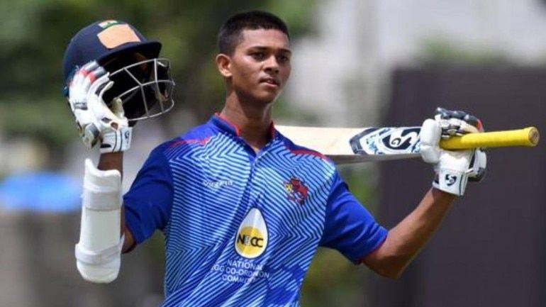 Jaiswal put on quite the show at the Vijay Hazare Trophy