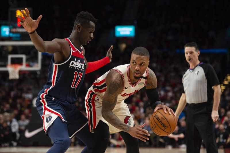 The Wizards were unable to contain the Trail Blazers