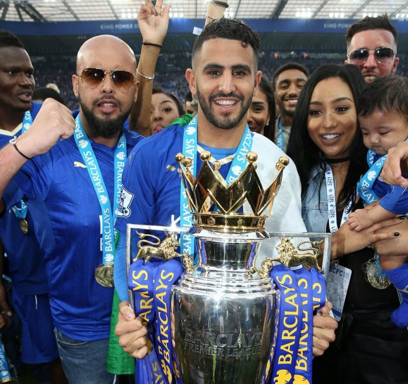 Riyad Mahrez inspired Leicester City to win the Premier League title