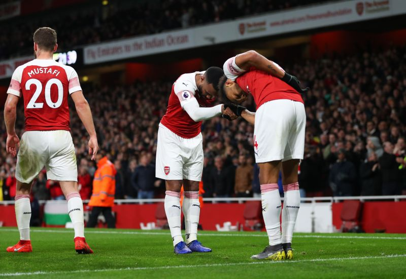 Alexandre Lacazette and Pierre-Emerick Aubameyang have formed a special bond at Arsenal.