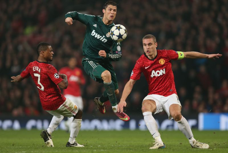 Cristiano Ronaldo helped Real Madrid to beat his old club Manchester United in the 2012-13 Champions League