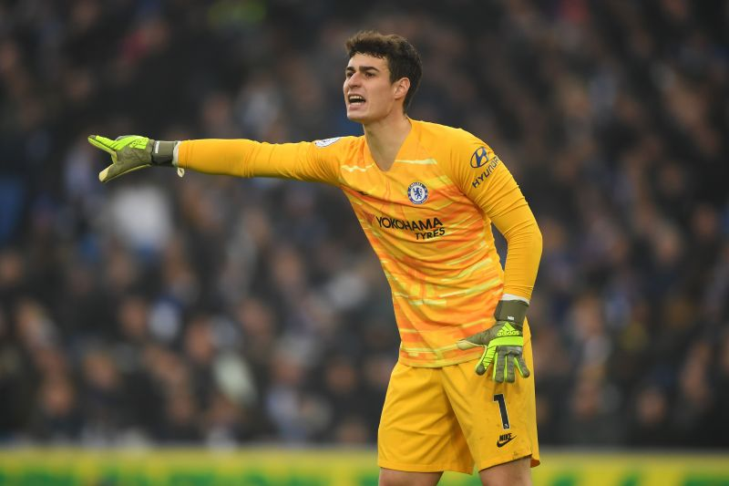 Kepa in action against Brighton and Hove Albion