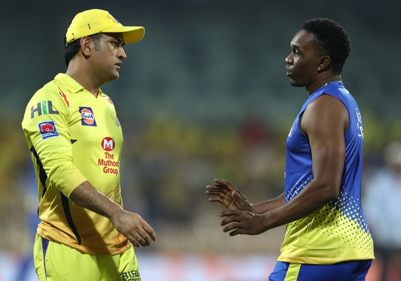 MS Dhoni and Dwayne Bravo were the then captains of the two sides respectively.
