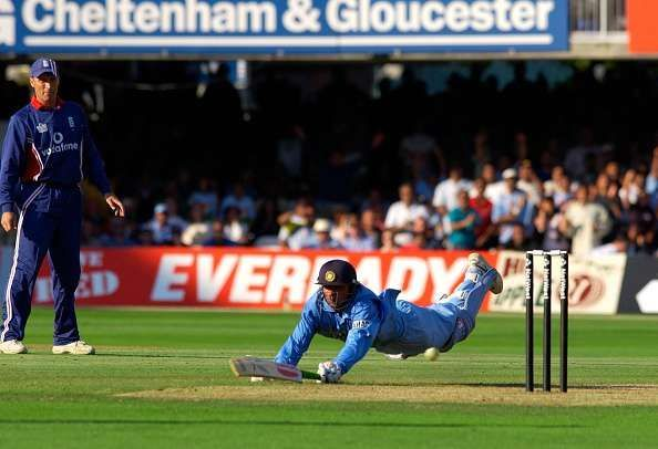 A match winning dive that sealed the game for India in the Natwest final