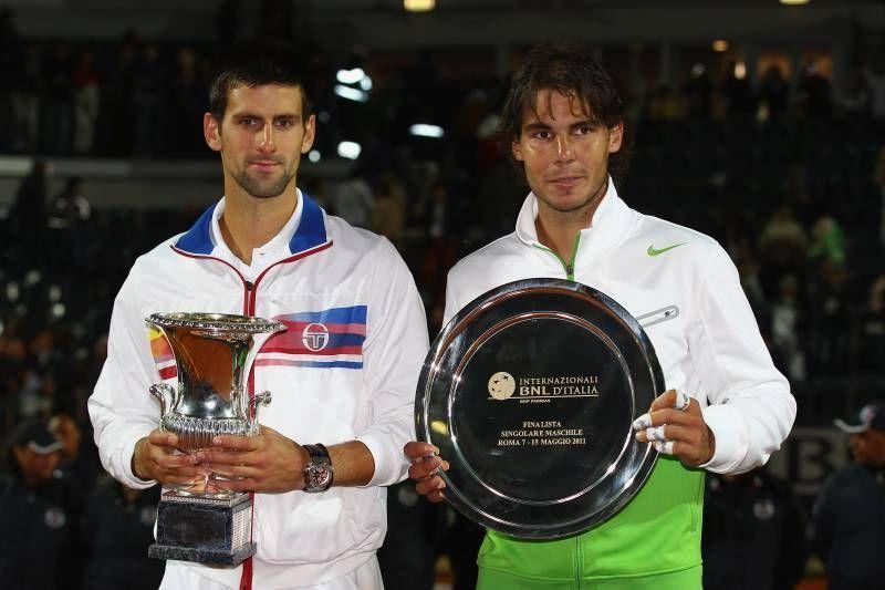 jokovic beats Nadal in the 2011 Rome Masters final.
