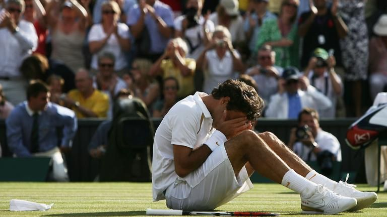 The moment Federer secured his fifth Wimbledon