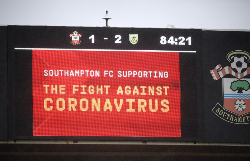 A show of support for the fight against coronavirus by Southampton