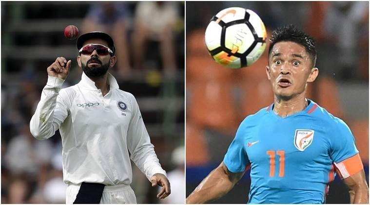 Sunil Chhetri attended RCB camp at the Chinnaswamy Stadium in Bengaluru during IPL 2019