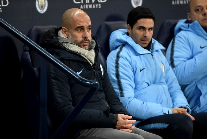 Arteta worked closely alongside Pep Guardiola at Manchester City