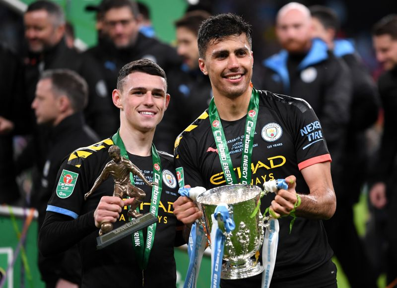 After a fantastic performance today, Phil Foden (left) should be given more playing time by Pep Guardiola