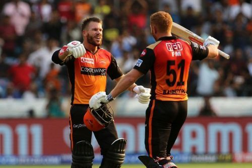 David Warner and Jonny Bairstow give SRH solidity at the top