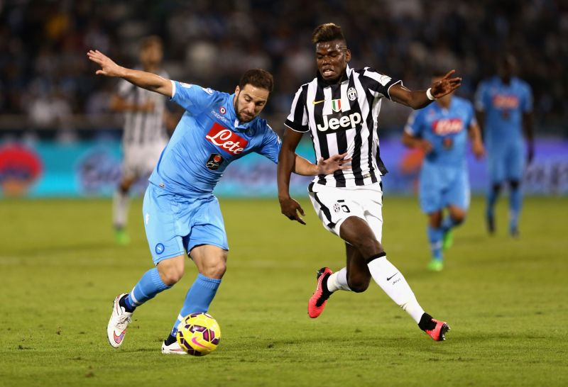 Paul Pogba in action against SSC Napoli