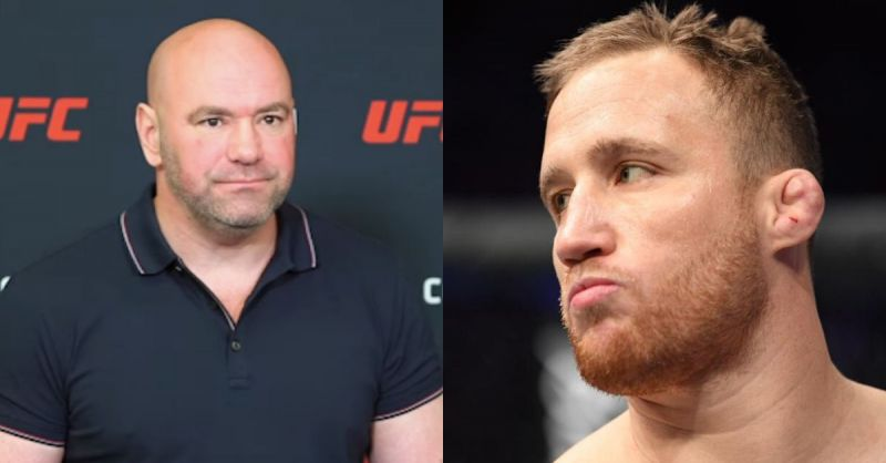 Dana White and Justin Gaethje.