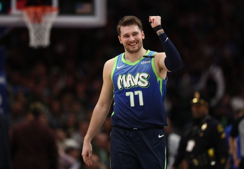 Doncic has been playing with a sprained left thumb