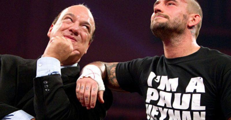 Paul Heyman and CM Punk.