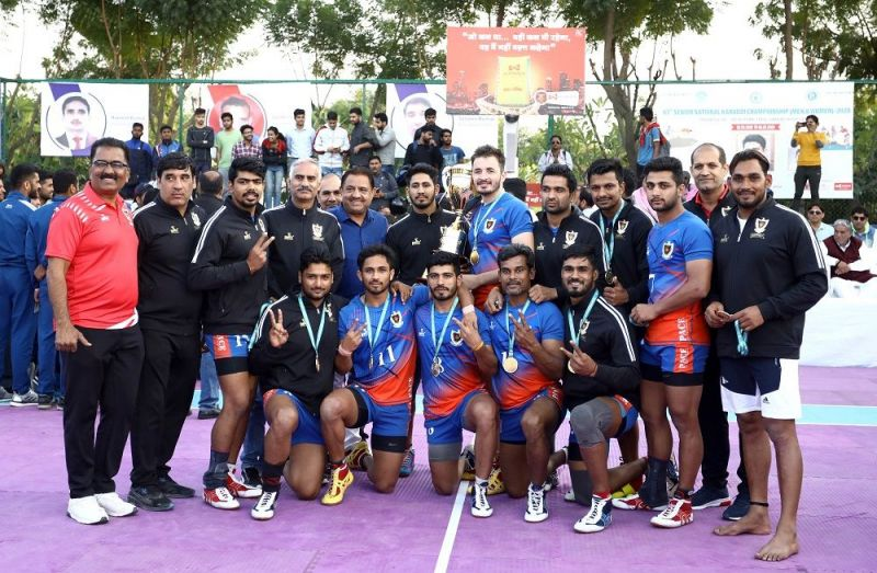 Railways pose with the trophy