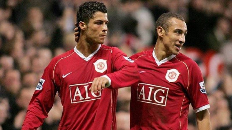 Henrik Larsson (Right) with Cristiano Ronaldo (Left)