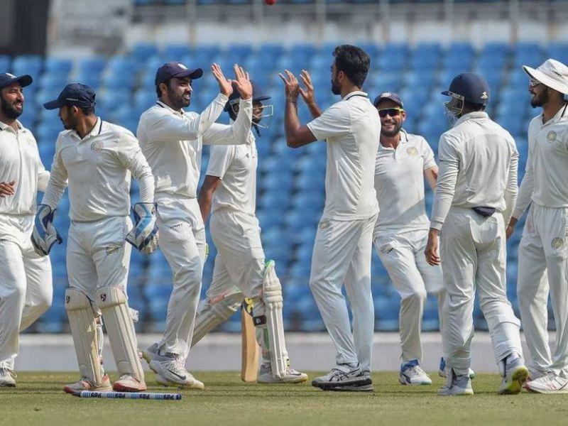 Saurashtra celebrate their maiden Ranji Trophy title in 2019-20