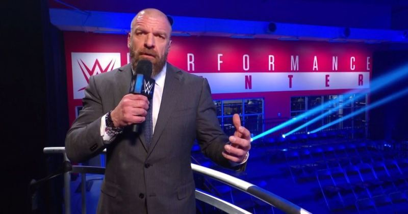 Triple H at the WWE Performance Center on a re