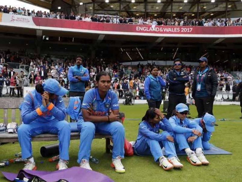 The dejected looks on the faces of the players say it all
