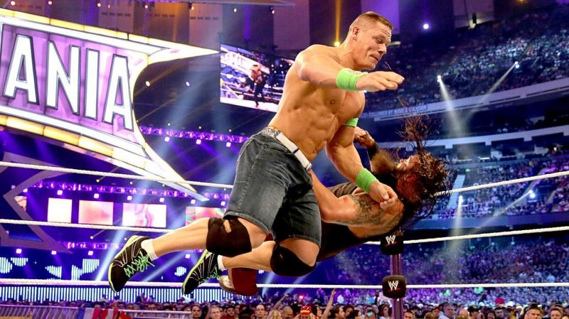 The two superstars squared off at WrestleMania 30 when Cena emerged victoriously