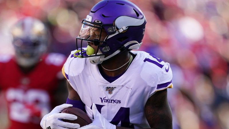 Stefon Diggs playing for the Minnesota Vikings