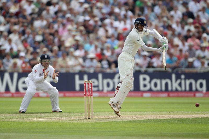 Rahul Dravid playing verus England in 2011