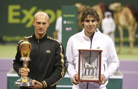 Nikolay Davydenko beat Nadal in the 2010 Doha final.