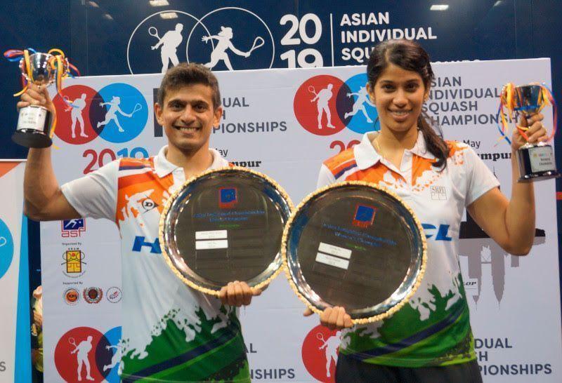 Saurav Ghosal and Joshna Chinappa - India
