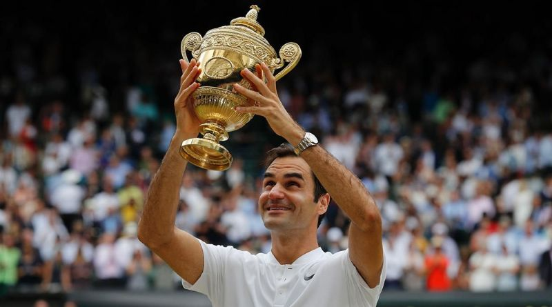 Federer at his favourite playing ground - the Wimbledon