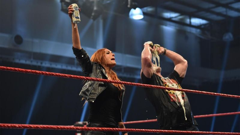 Becky Lynch and Stone Cold Steve Austin on RAW