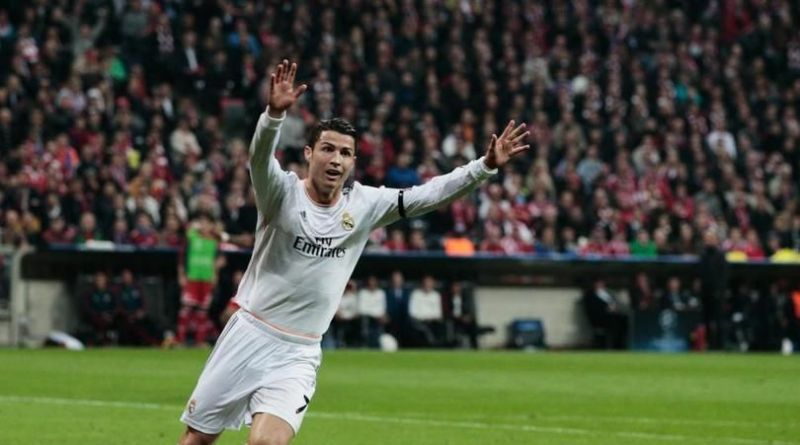 Ronaldo rejoices after scoring against Bayern in the 2013-14 semi-final second leg