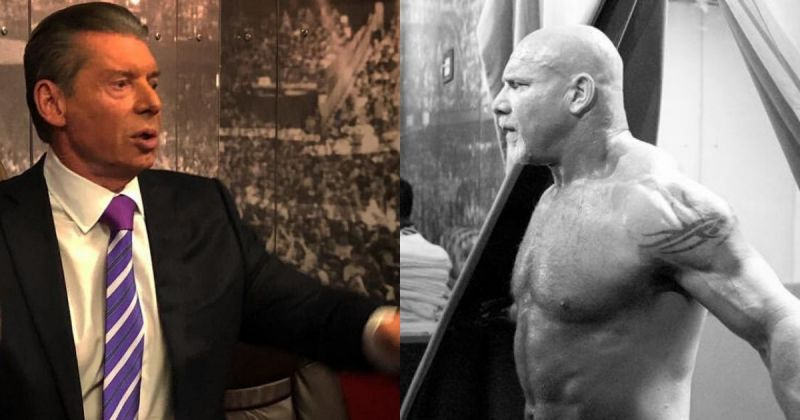 Vince McMahon and Goldberg.