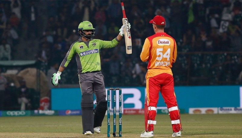 Hafeez narrowly missed a century in their last clash