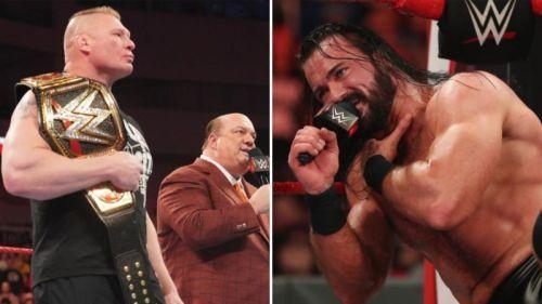 Brock Lesnar is set to face Drew McIntyre at WrestleMania 36