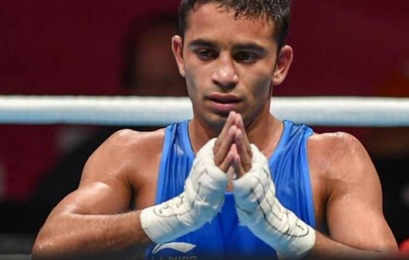 Amit Panghal managed to scrape through to the quarter-finals