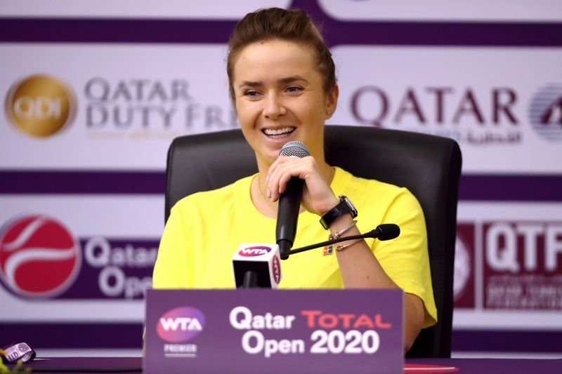 Elina Svitolina is the top seed at WTA Monterrey (file photo)