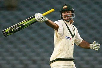 Ponting with the graphite bat (PC: ABC)